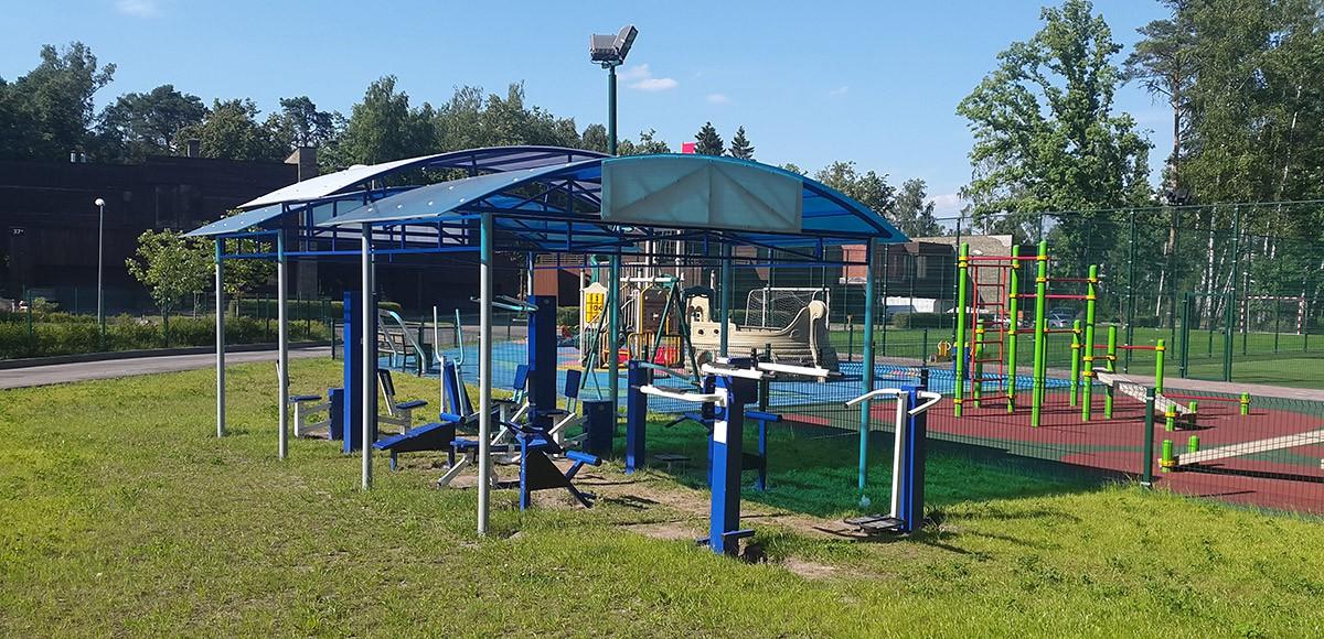 Фитнес на свежем воздухе в Резиденции Рублево