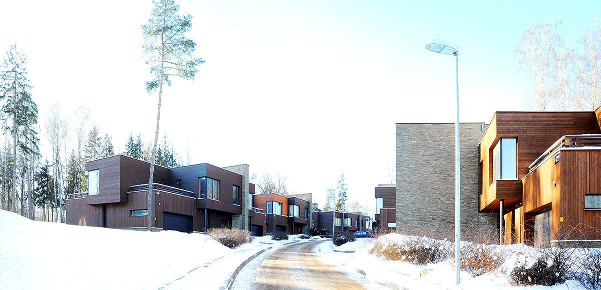 Улица зимой в «Резиденции Рублево»
