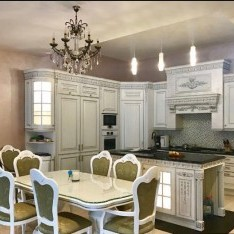 Кухня-столовая, вид 1, таунхаус 1А, Резиденция Рублево