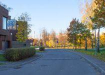 Панорама осенней улицы в КП Резиденция Рублево
